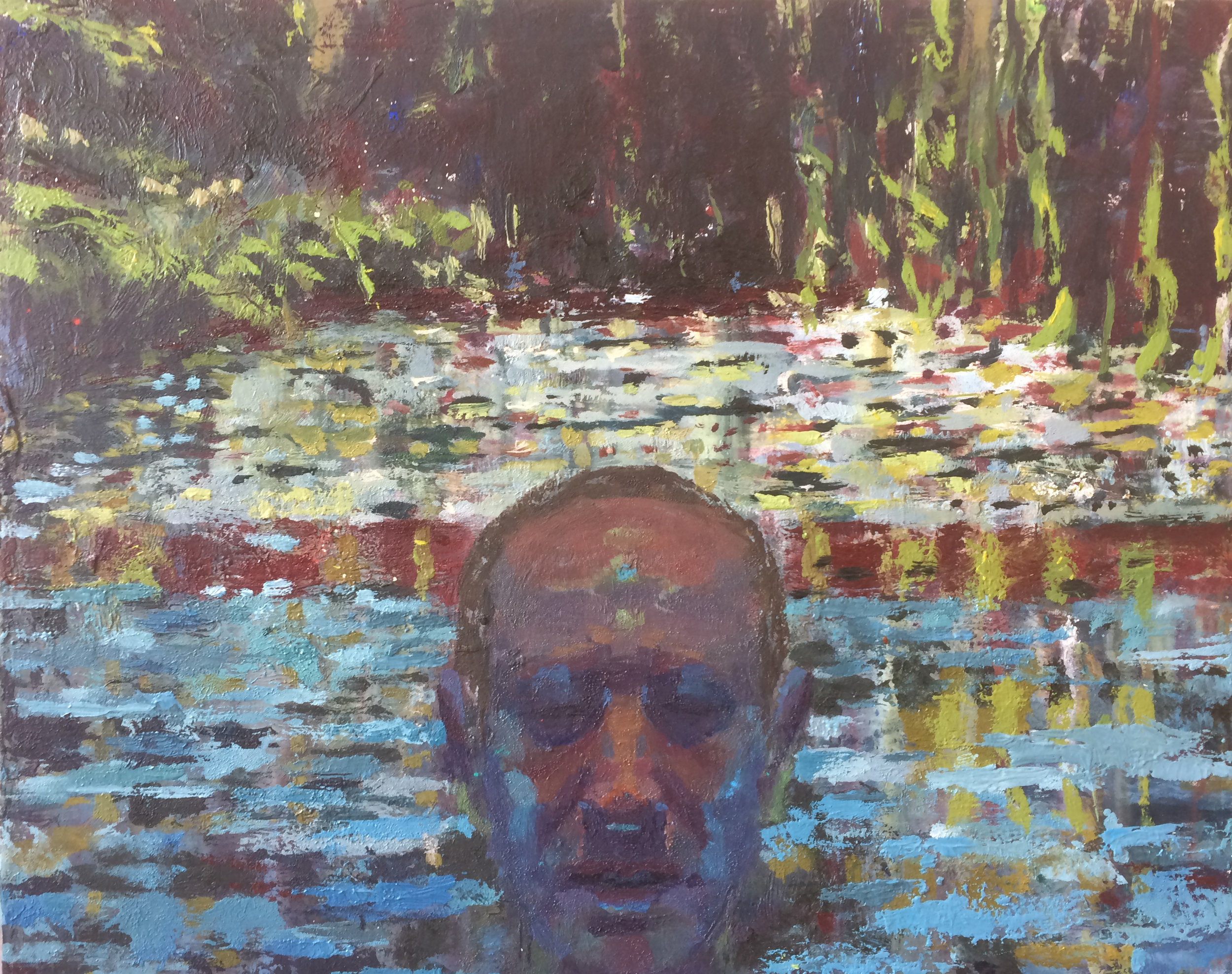 Water Years I,  2006 oil on panel, 12 x 15 inches