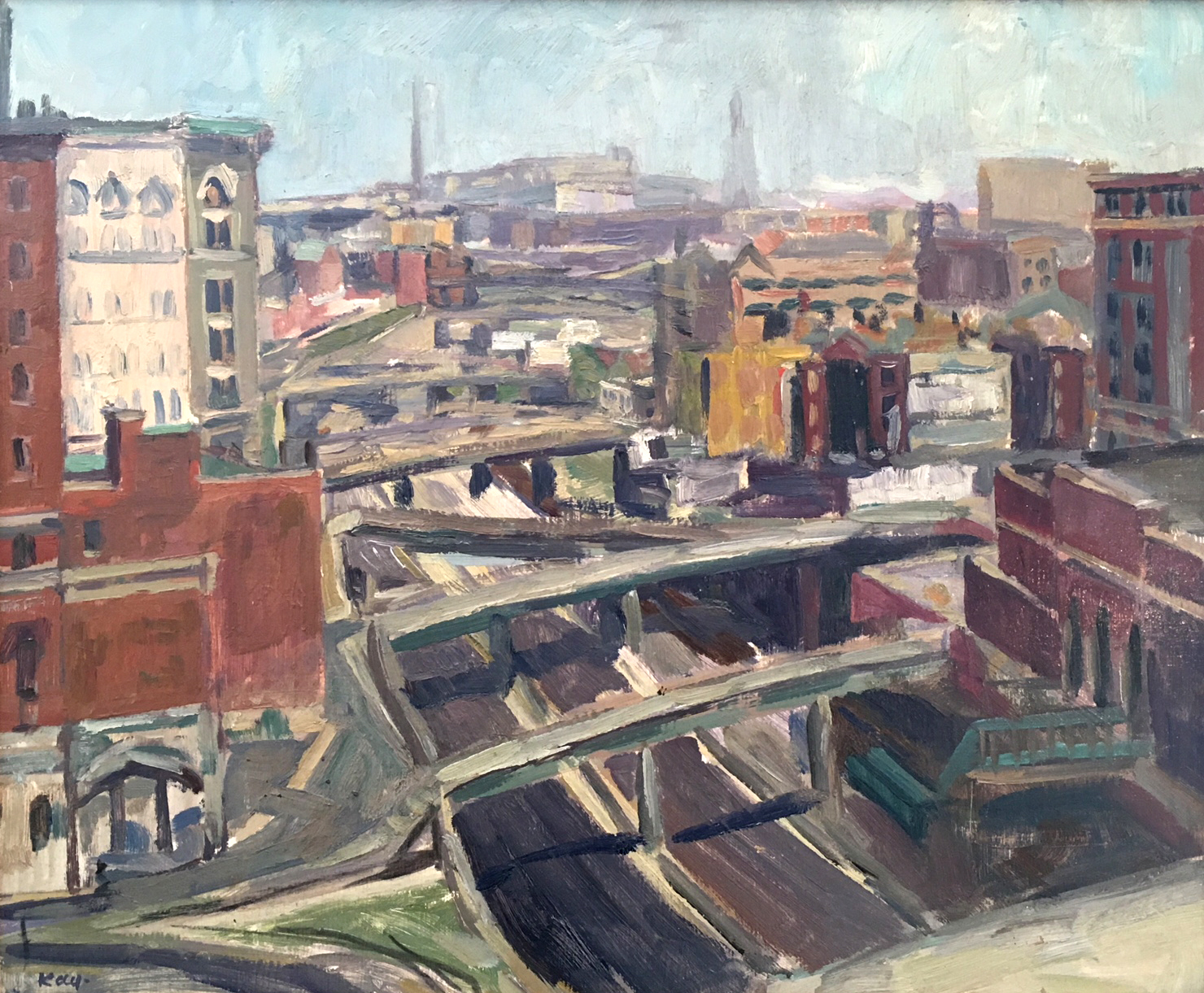 Overpasses,  1969 oil on canvas, 15 x 18 inches