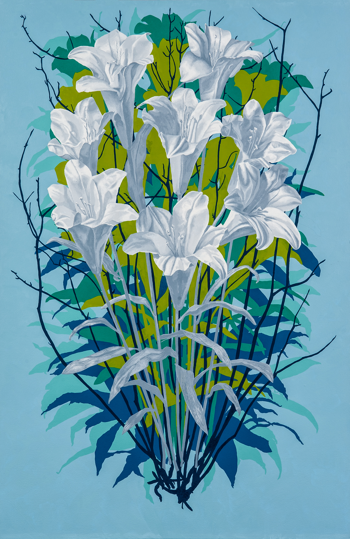 Lilies , 2018 oil on canvas, 56 x 36 inches