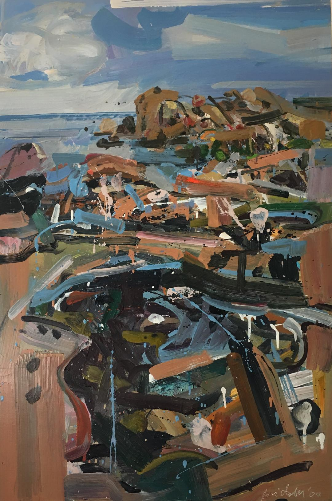 Tidal Pool, Sand Beach , 2004 oil on panel, 36 x 24 inches