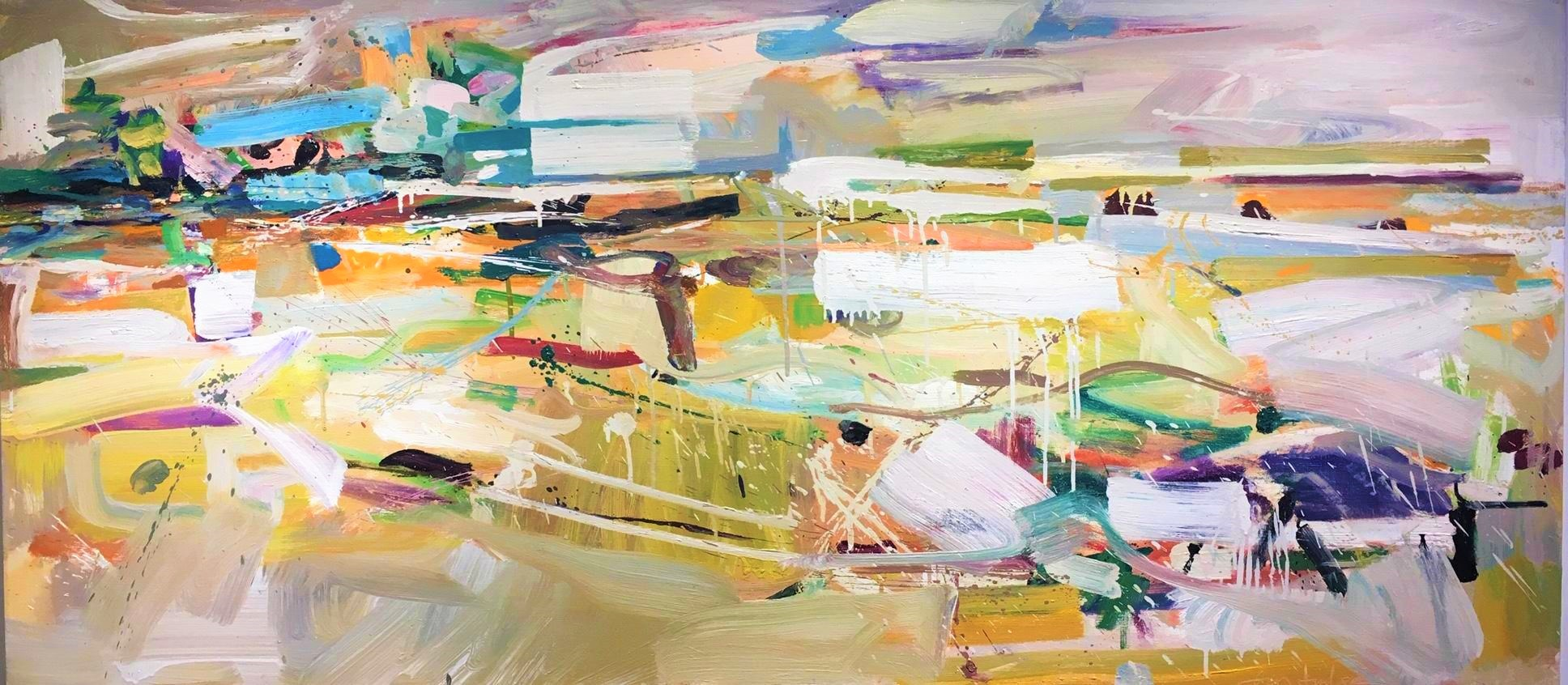 Windswept II , 2011 oil on canvas, 30 x 66 inches