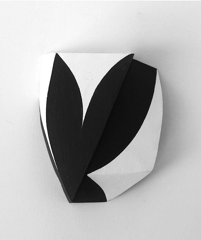 Hugh O'Donnell  In A Folded Leaf 2 , 2017 acrylic on wood, 8 1/2 x 6 1/2 x 2 inches