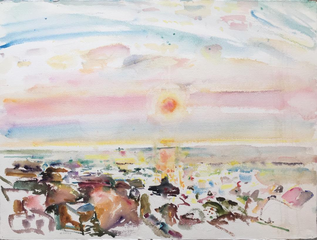 Yellow Dawn , 1983 watercolor on paper, 22 x 30 inches