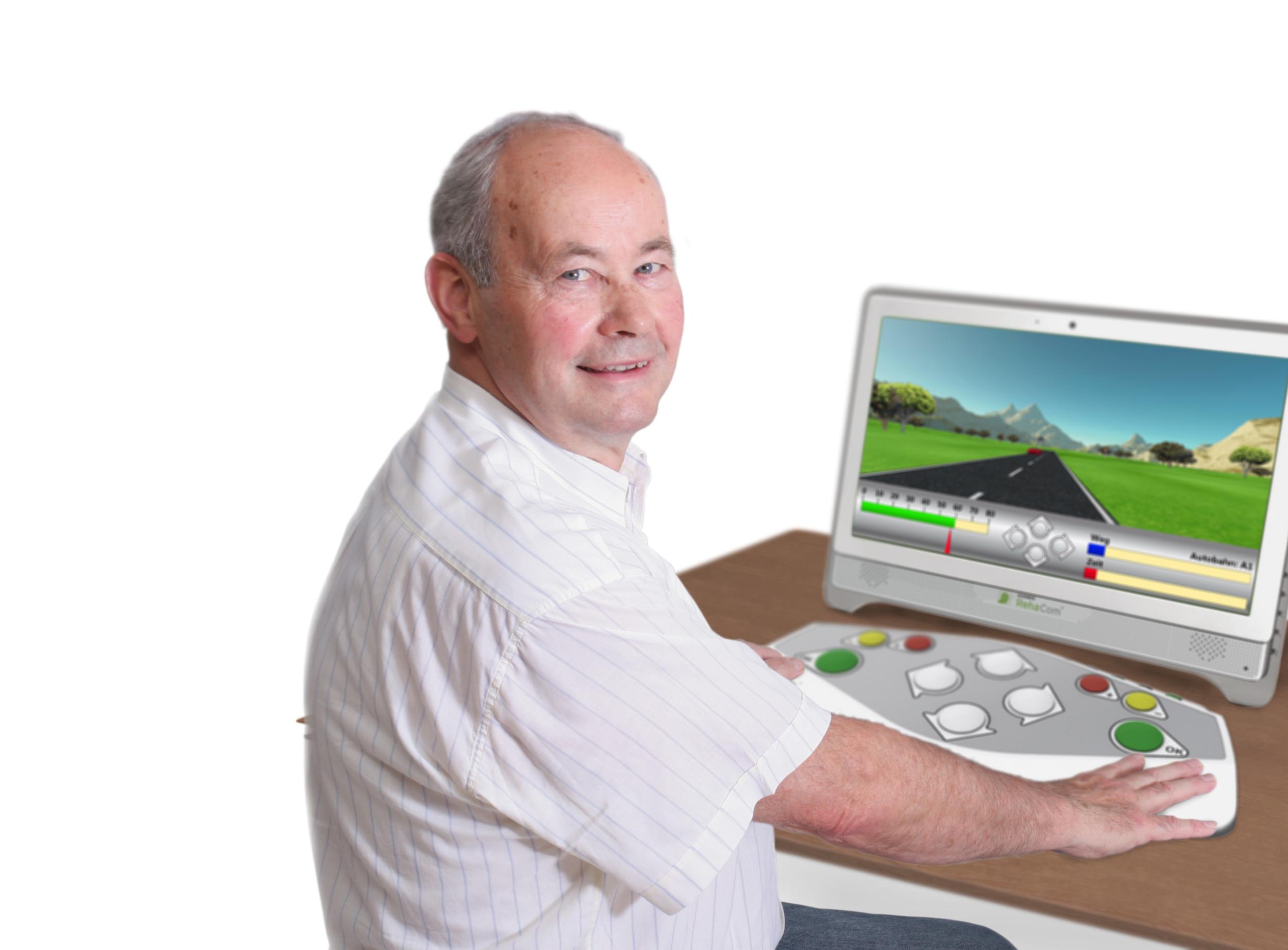 RehaCom runs on a Windows PC