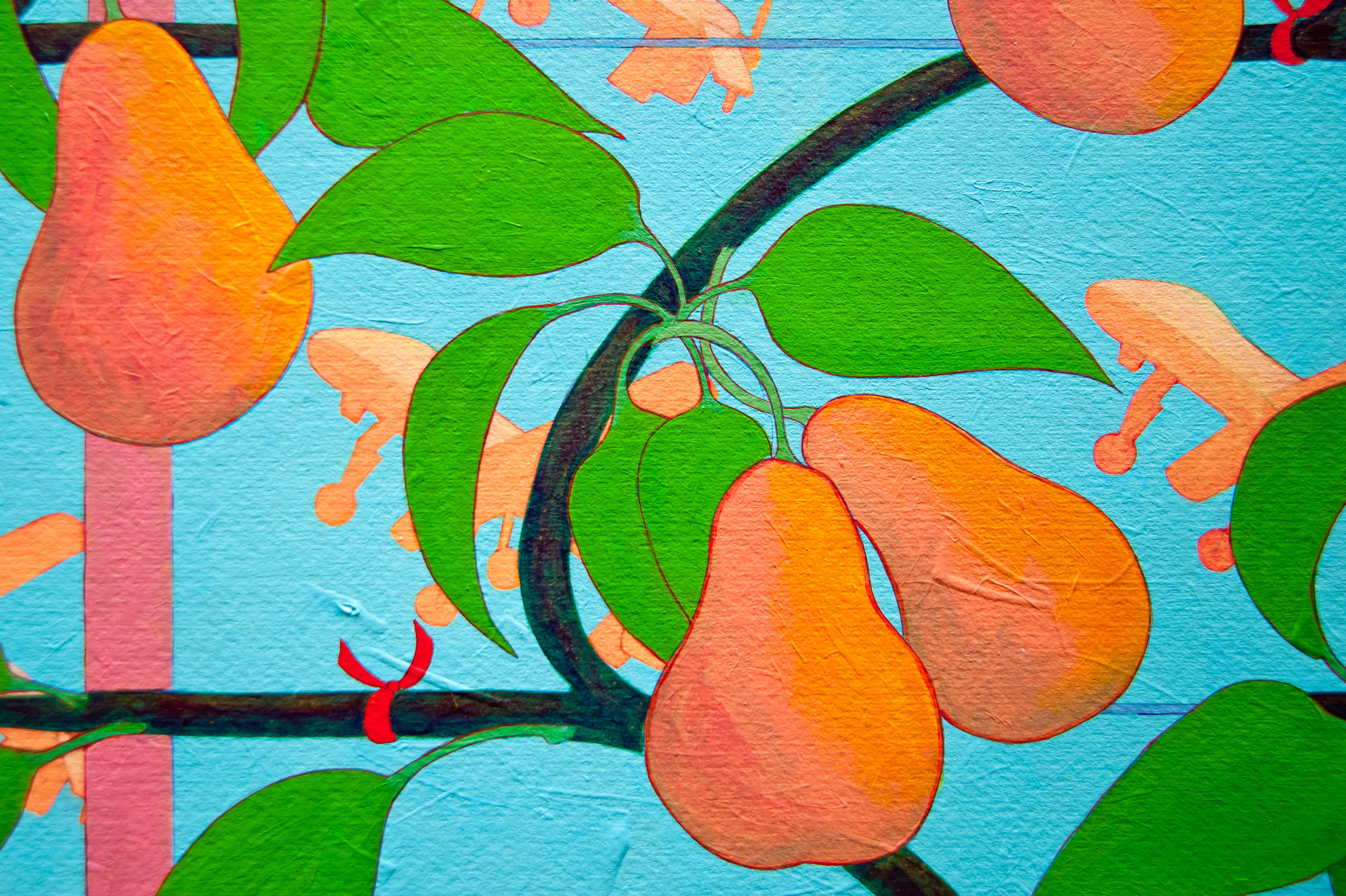 Pear Espalier with Drones  Detail