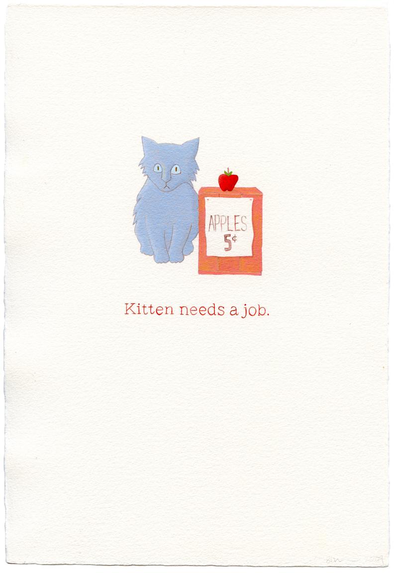 kitten needs a job