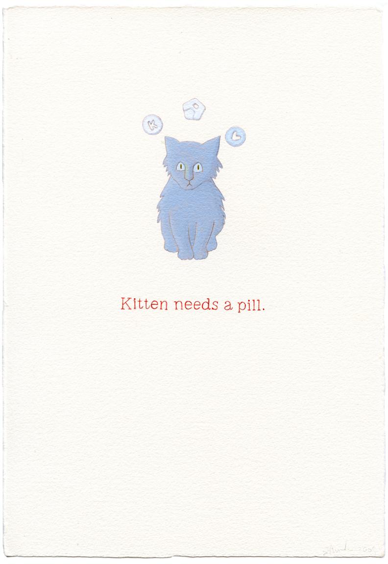 kitten needs a pill