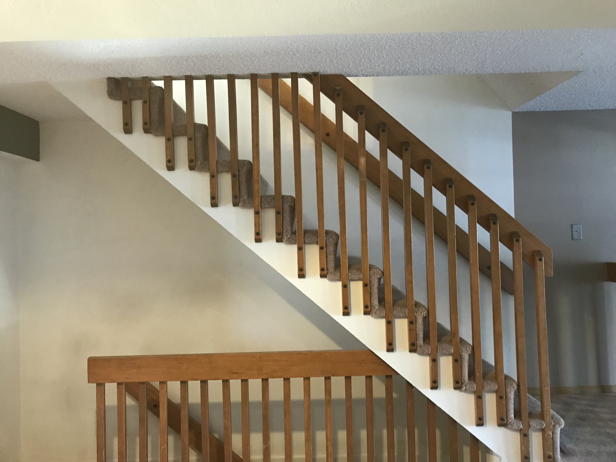 stair up/down - across from dining nook