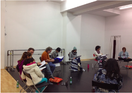Photo from a 2014 Story Circle for HOME/S. 9th St. which only included verbal communication