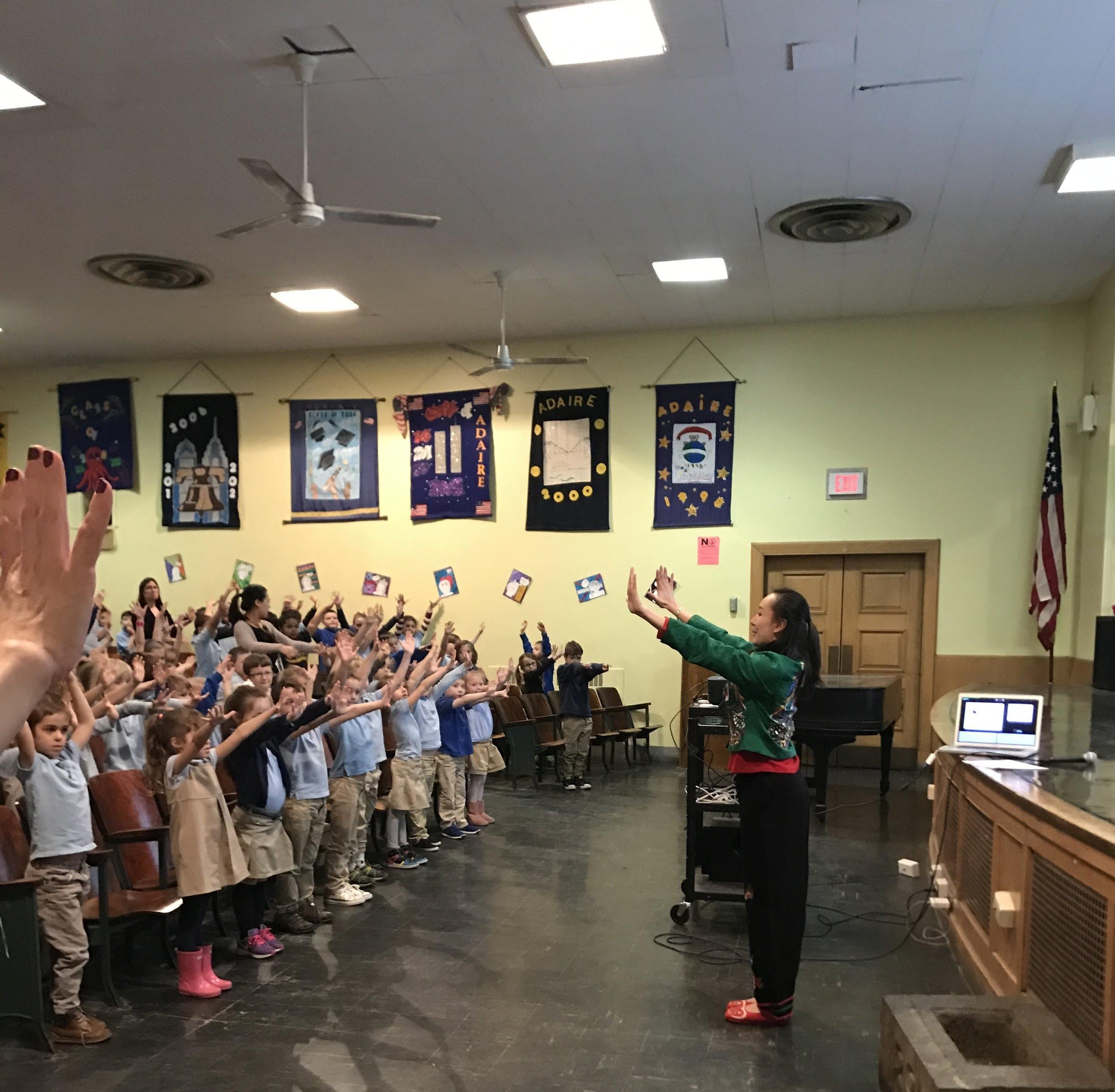 Lunar New Year Assembly at Alexander Adaire School