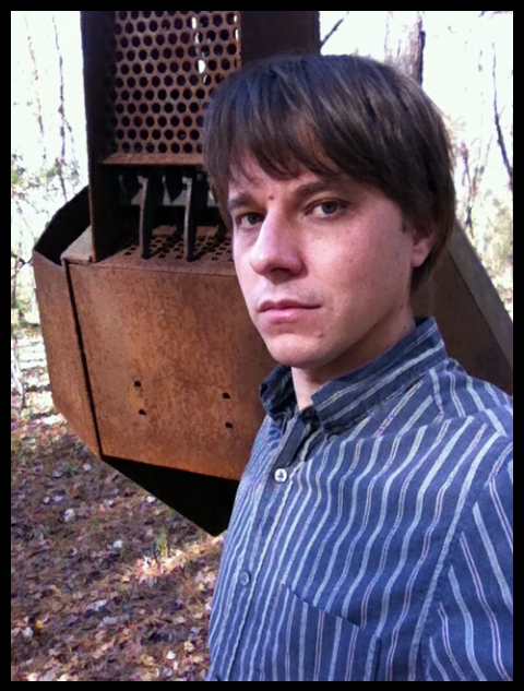 Standing in front of my sculpture at the Ebenezer Swamp.