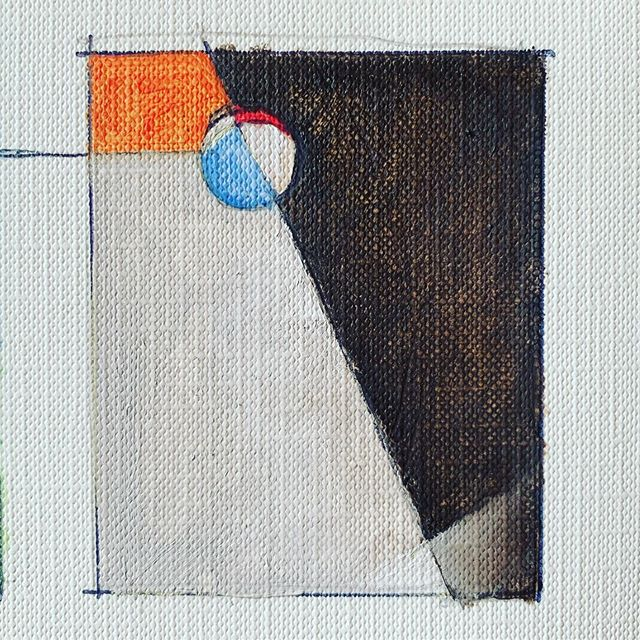 """I am partial to this one . 2.25"""" x 2.5"""" #ballonastick #abstract #expressionist"""