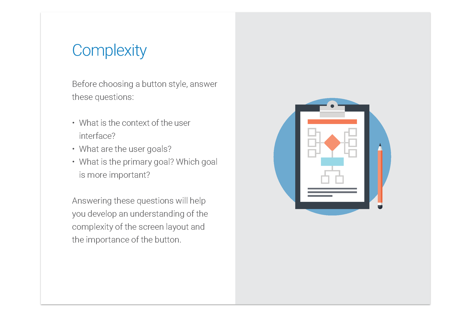 Excerpt from the buttons case study