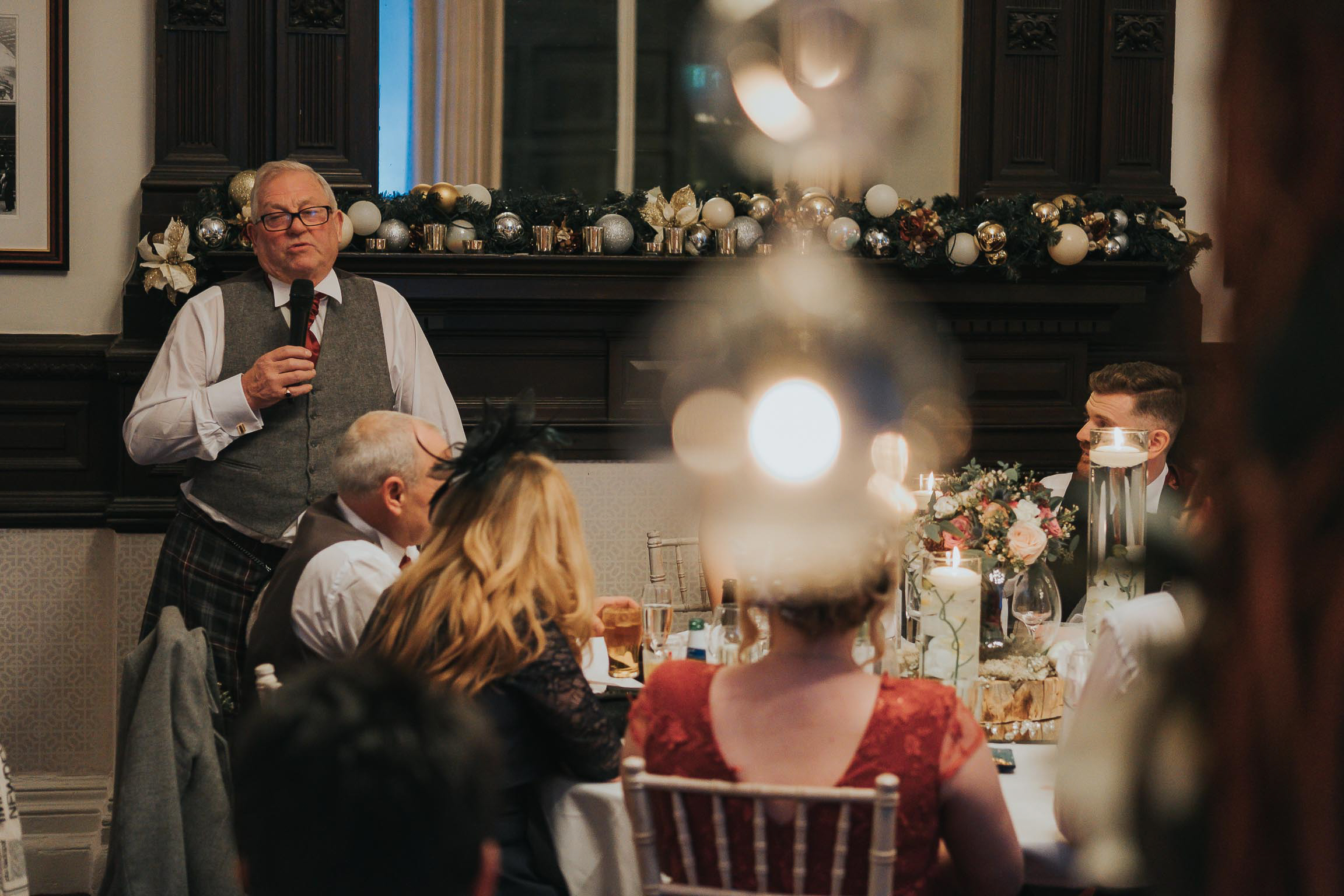 father of the bride during his speech