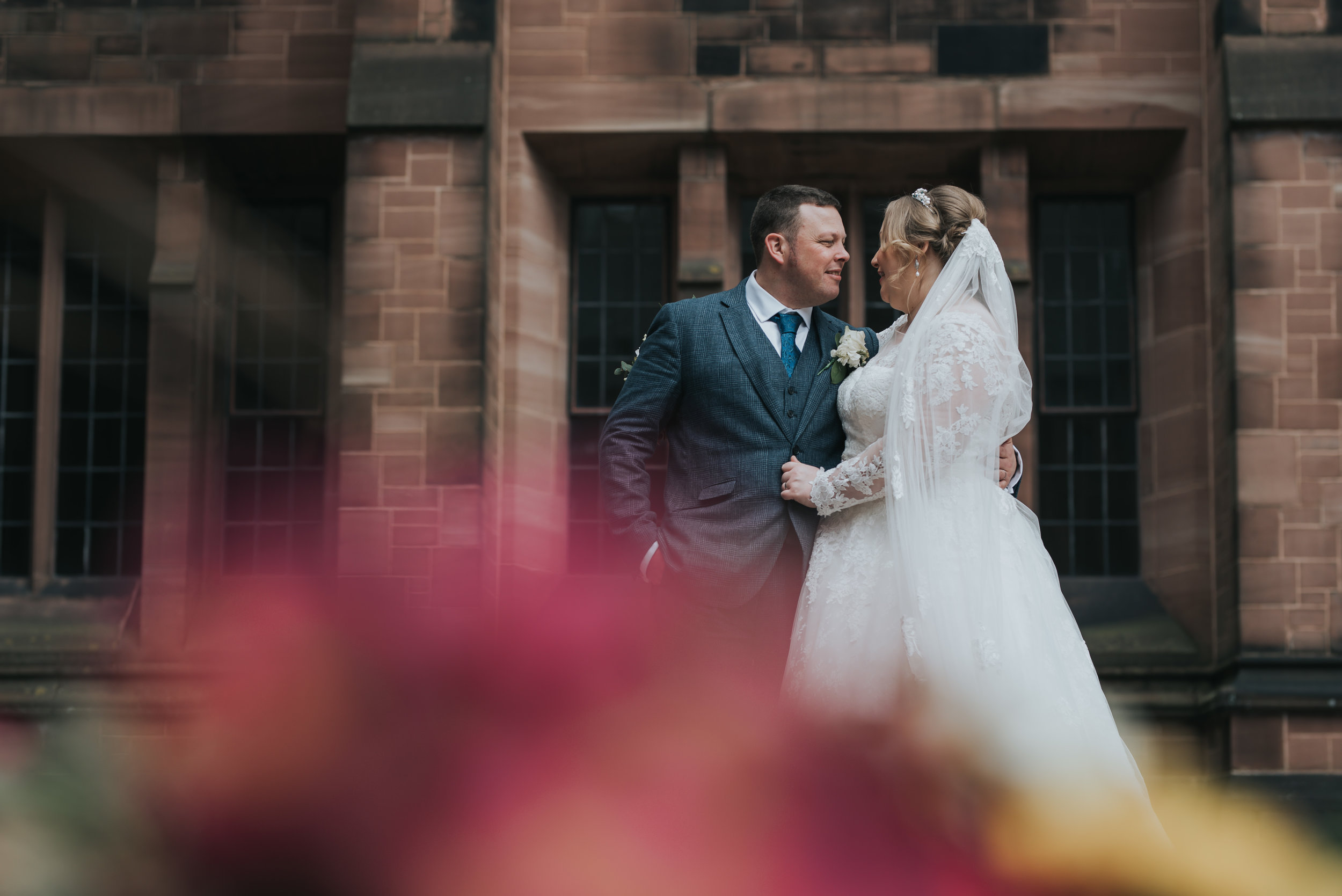 Beautiful relaxed wedding at Bolton School wedding venue