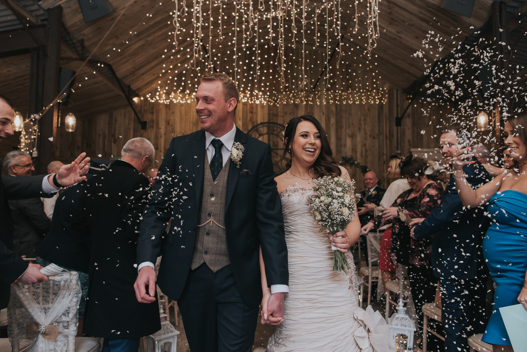 stunning confetti shot at Alcumlow Hall Farm