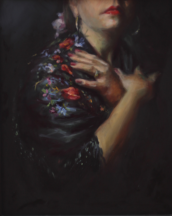 """The Shawl"" Oil on Panel 16x20"
