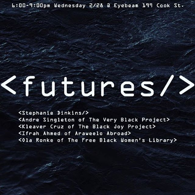 "Mi gente! Come through tonight for a conversation hosted by the good folks at @bufu_byusforus as the last part in a weekly series this month: ""The Black Archive: past present futures"". The Black Joy Project's founder,, Kleaver Cruz, will be in community with @thefreeblackwomenslibrary @theveryblackproject and @araweeloabroad. See you at 6!"