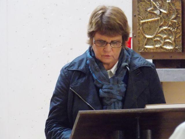 Lecture d'une intention de la prière universelle par Marie Chantal