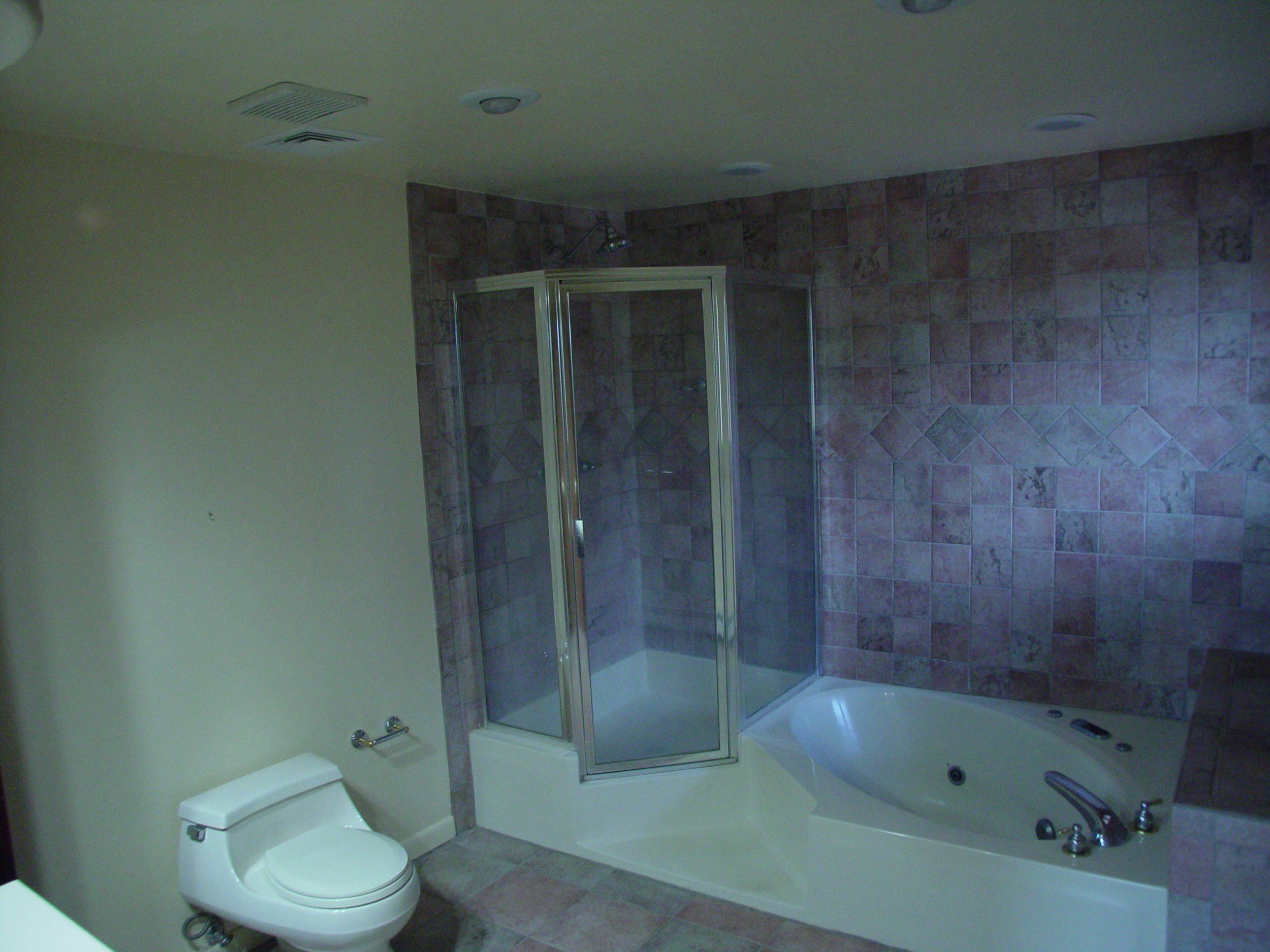 A client's bathroom before a barrier-free bathroom remodel.