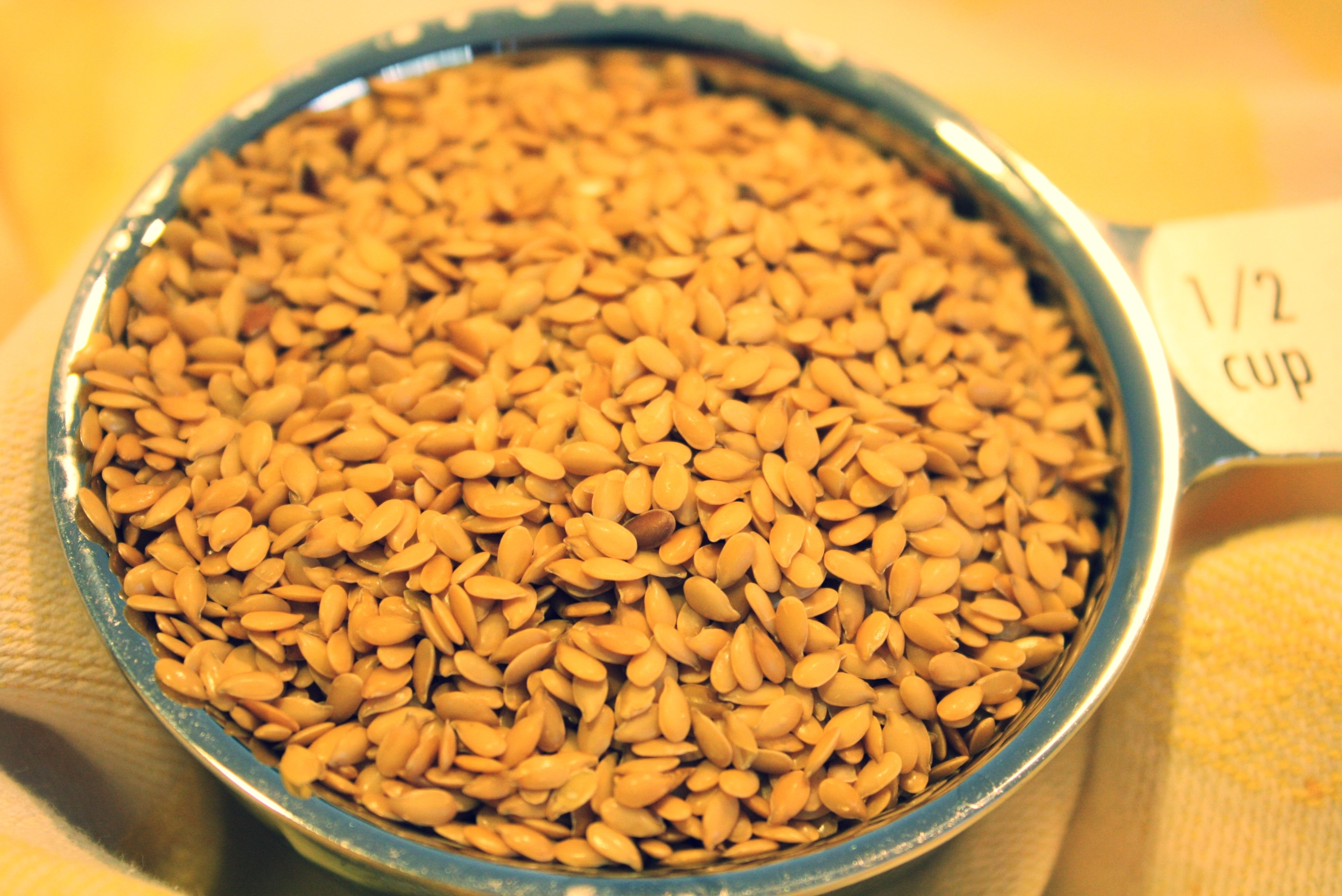 Whole golden flax seed