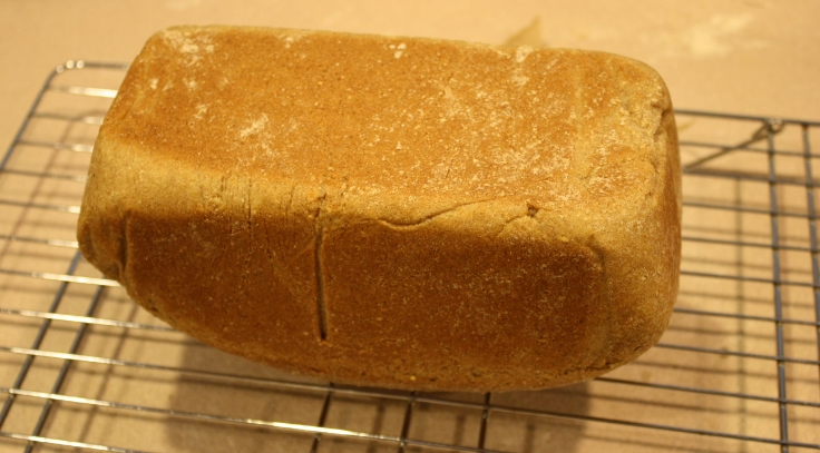 Bottom of the loaf should be firm