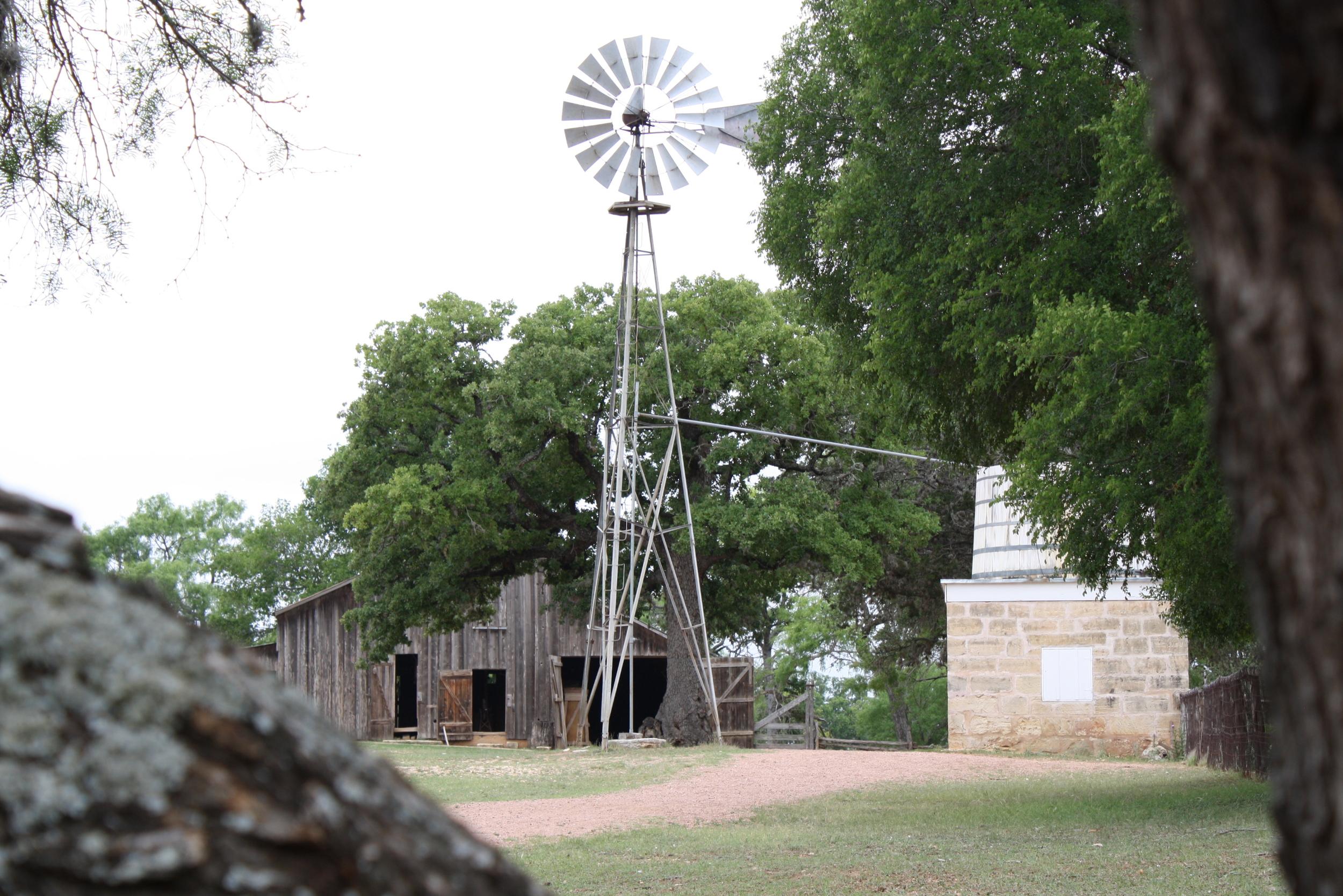 The farm's windmill