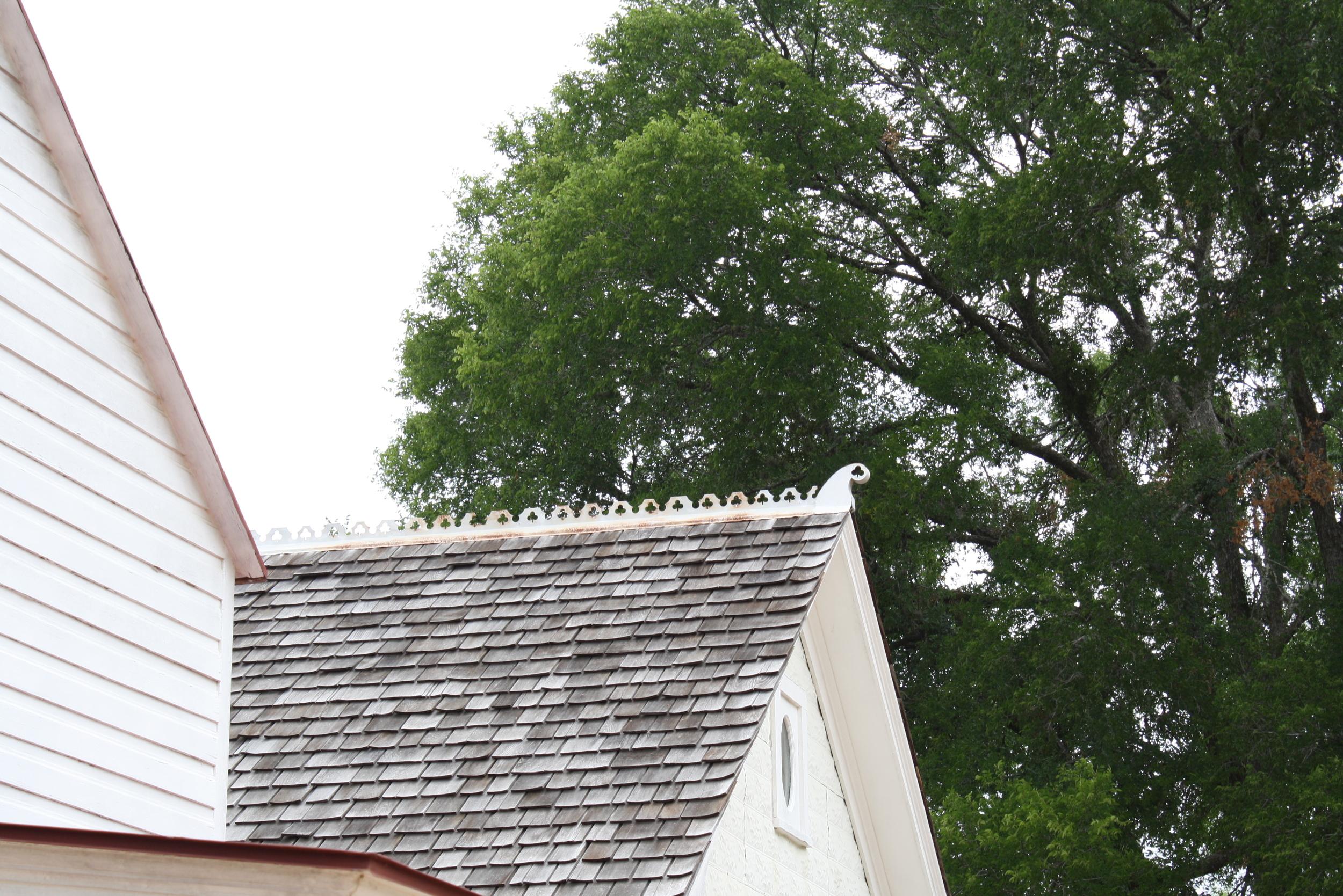 Intricate roofline detail