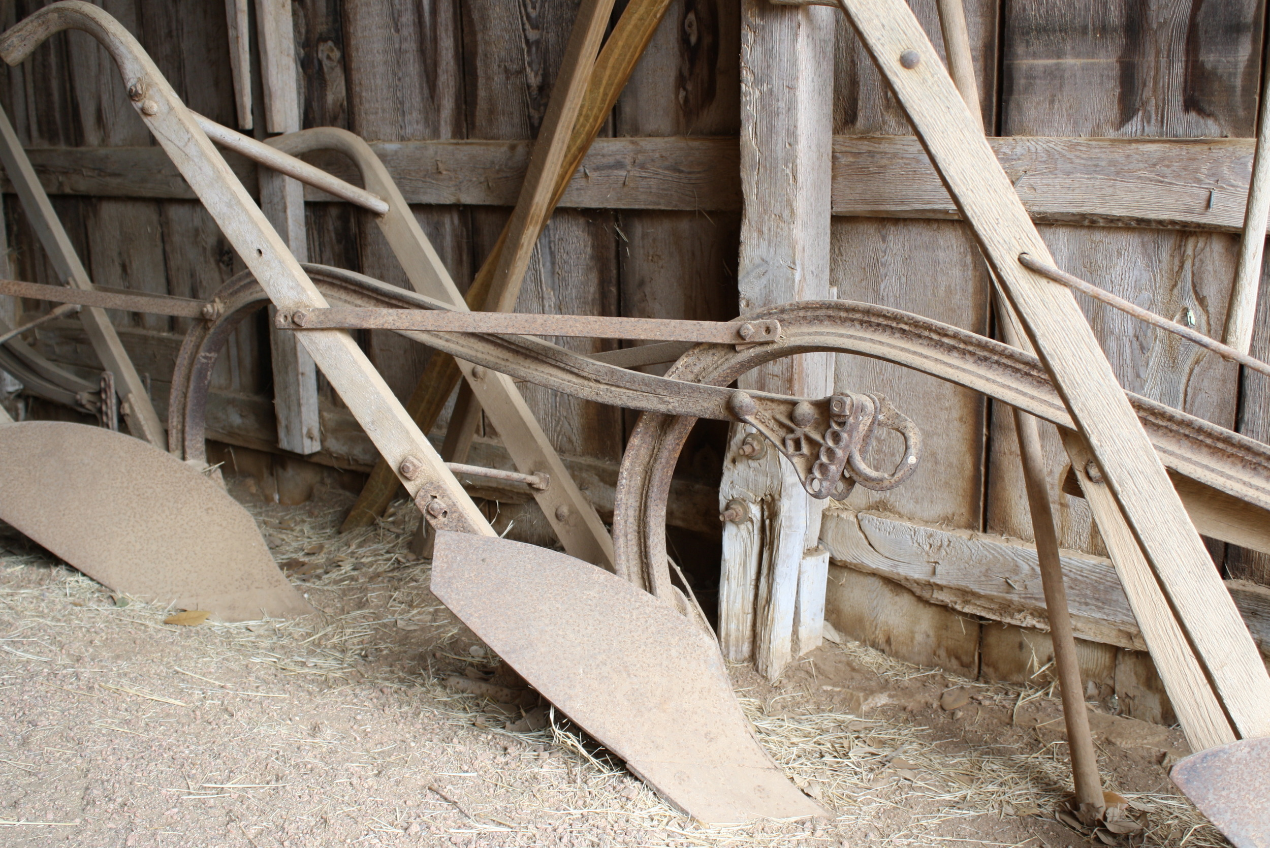 Plows in the barn