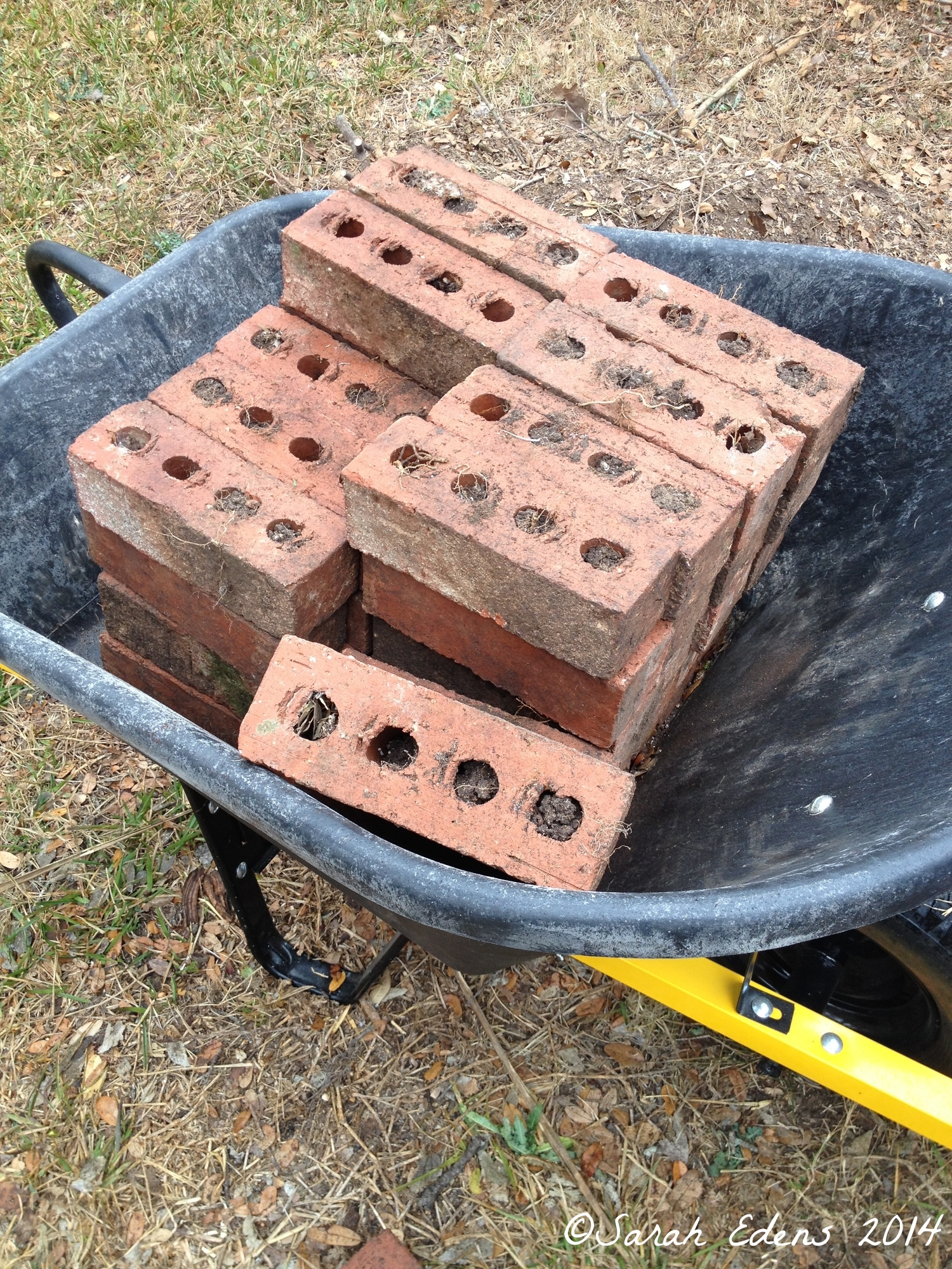 We used leftover bricks from another project