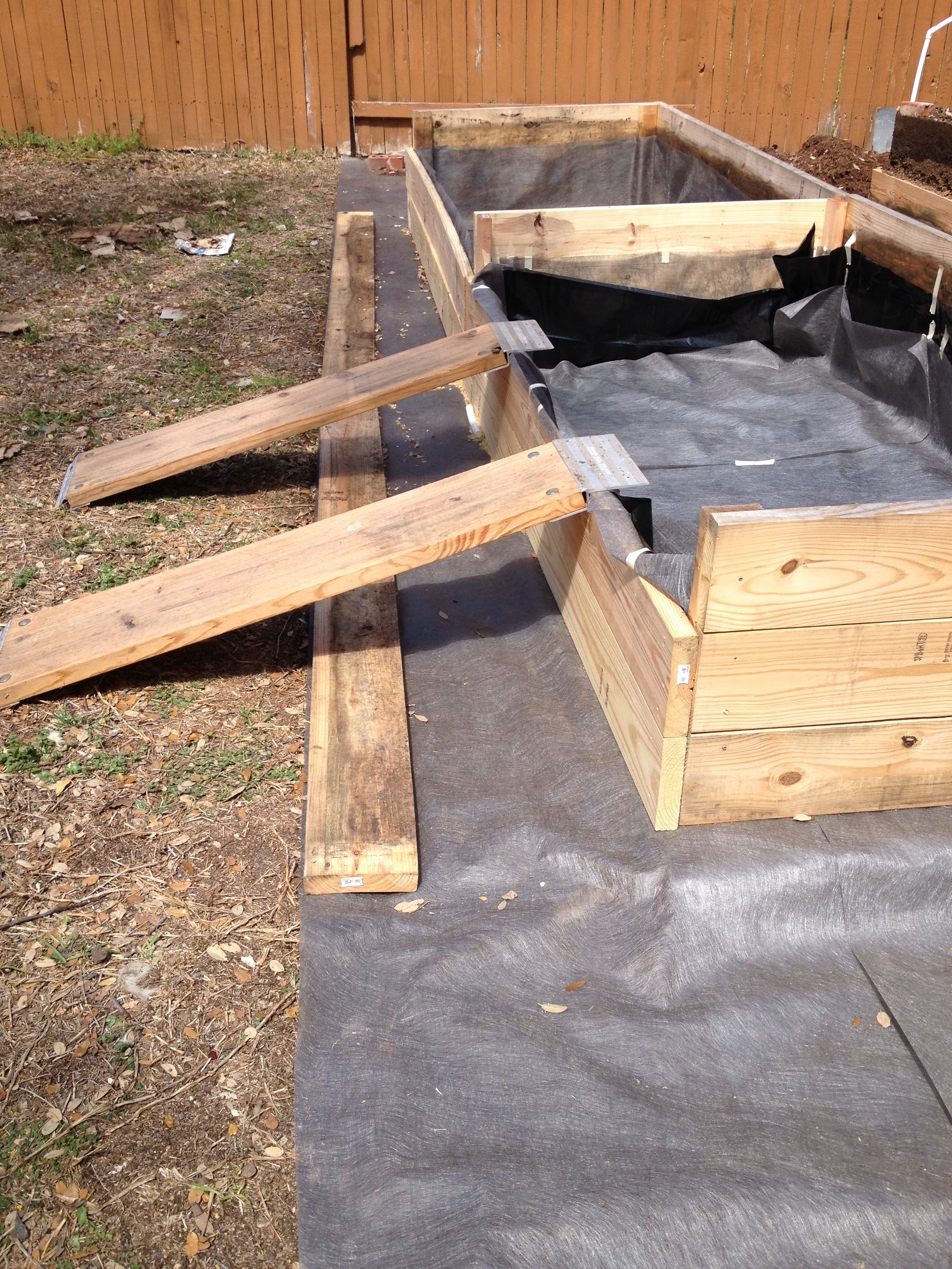 Ramps to use for the wheelbarrow