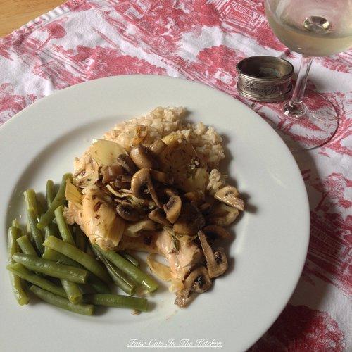 Grilled Chicken & Artichokes