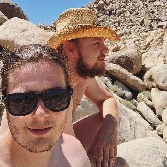 #fbf good times celebrating in Joshua Tree! Gotta get out to the desert more often. So important to #connect with nature and #disconnect from the daily reality tv world we live in.. 🌵🌞 — #nature #joshuatree #nationalparks #walden #thoreau #brokebackmountain #flashbackfriday #weekendvibes #getaway #friendsandfood