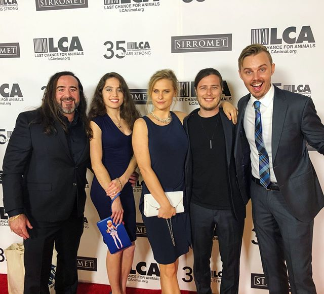 Fantastic night celebrating at @lc4a 35th Anniversary Gala! — Congrats to all the honorees @donnaderrico @kim.basinger @gloriadeebutler ! And huge thanks to #ChrisDeRose the man responsible for it all! Shout out to @anthonycaere the real life James Bond protecting Virunga National Park! @davidstudebaker always a pleasure as our great host! — #35yearsstrong #lastchanceforanimals #lca #animalrights #animalliberation #plantbased #vegan #vegansofig #fortheanimals #friendsnotfood #celebrate #gala #redcarpet #hollywood #filmmaking #directing #editing