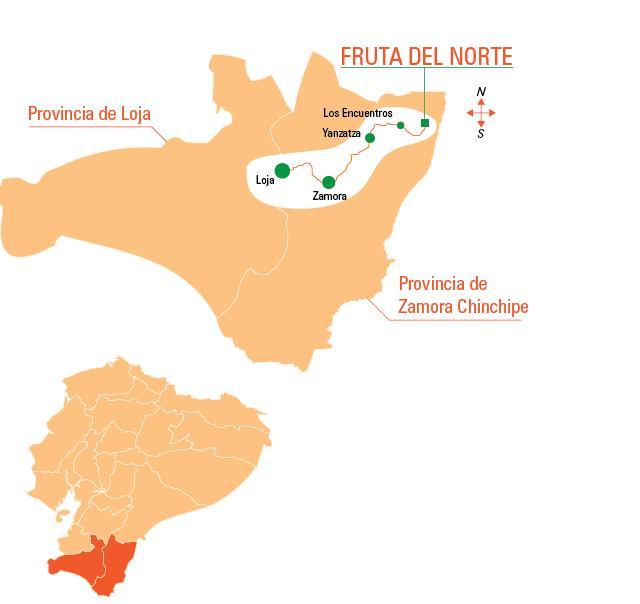 Fuente: Kinross  http://www.kinrossecuador.com/quienes-somos/fruta-del-norte.html