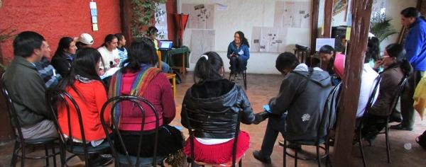 El taller se realizó con el apoyo de El Churo Comunicación.