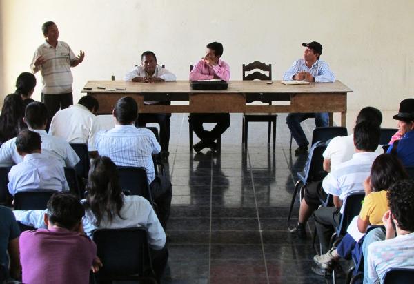 Encuentro de defensores en Bomboiza