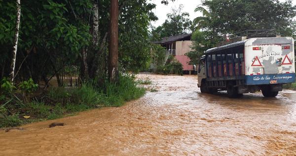 Hogares inundados en San Marcos. Foto: CASCOMI