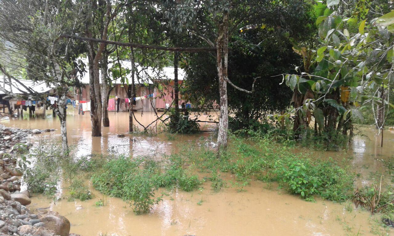 Imagen de la comunidad Yanua Kim inundada, publicada el 22 de junio de 2016. Este fue el hogar del defensor asesinado José Tendetza.