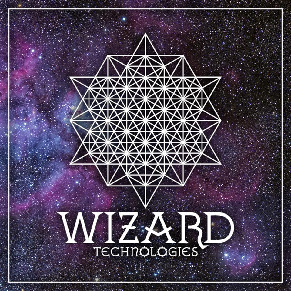 Wizard Technologies Logo - Star Tetrahedron On Cosmic Background