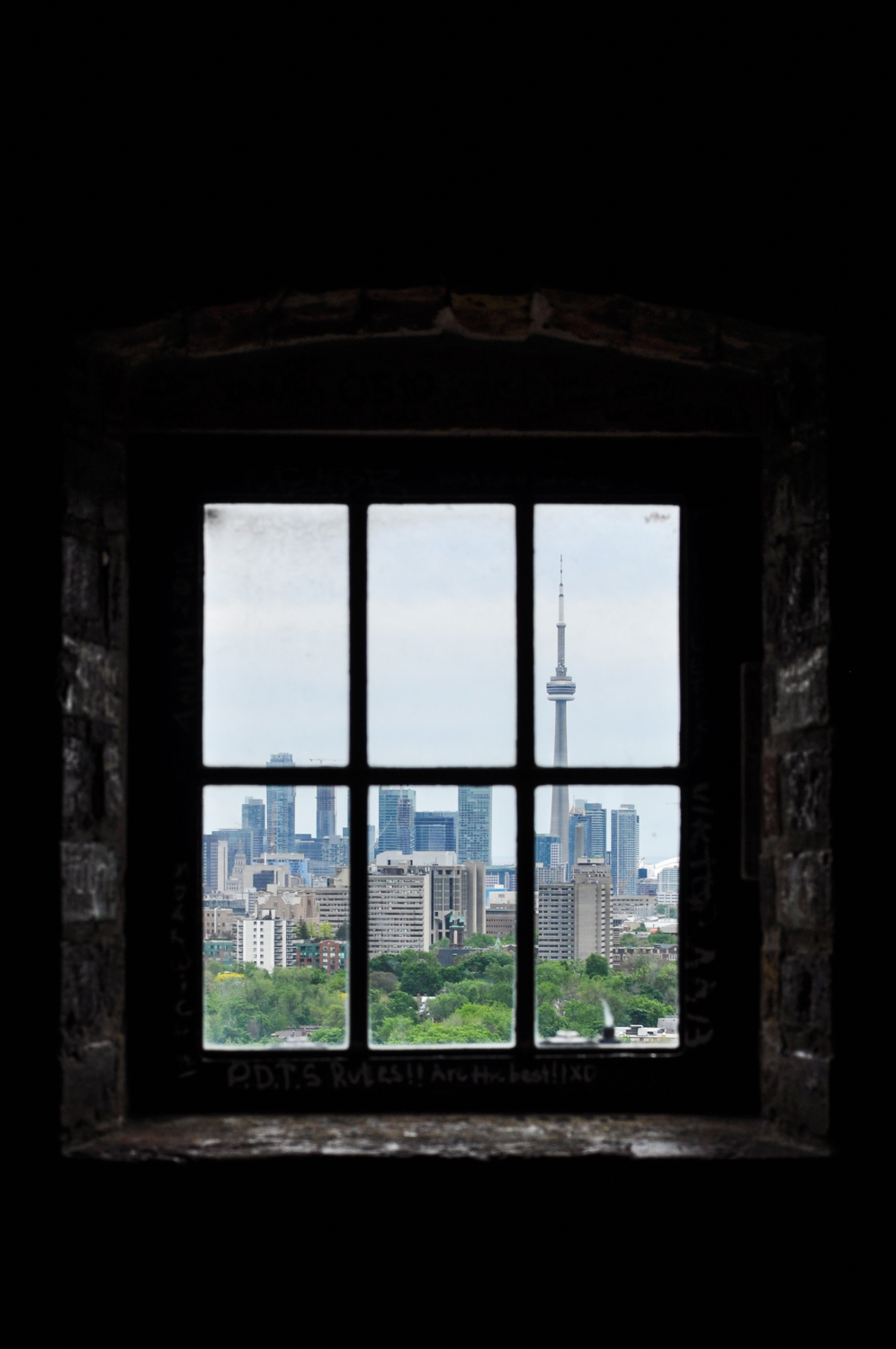 Casa Loma's view of downtown.
