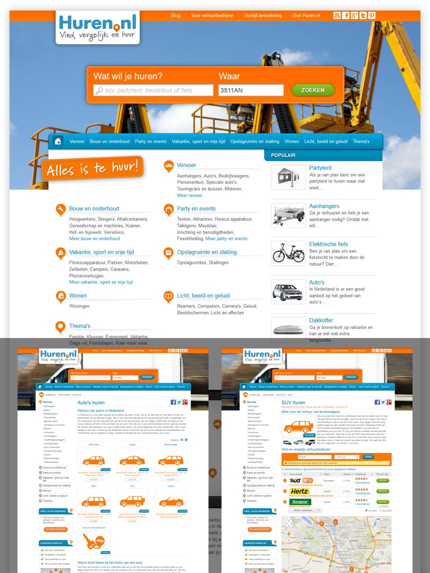Webdesign Huren.nl