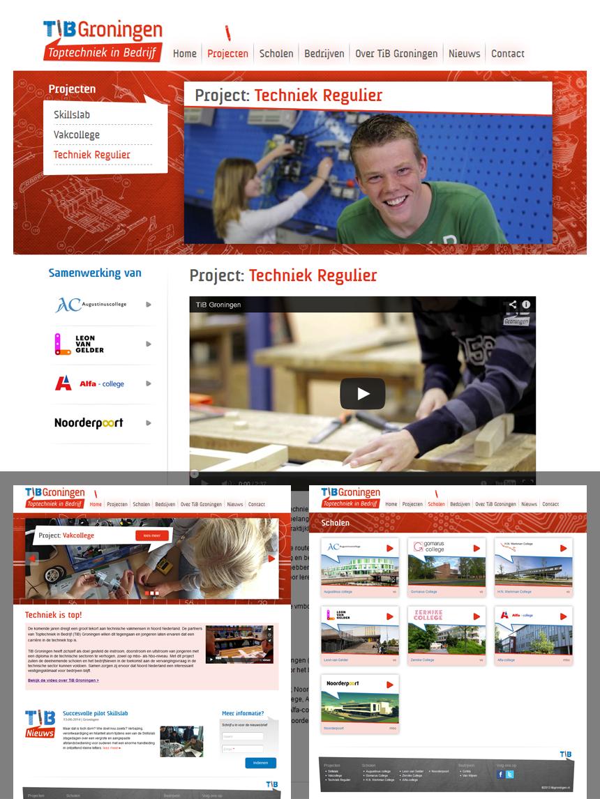 TiB Groningen website