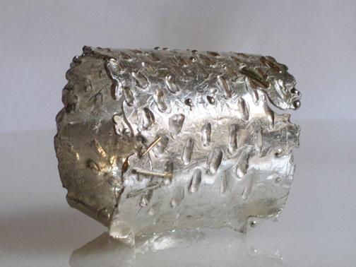 Dog-earred Silver Cuff $275