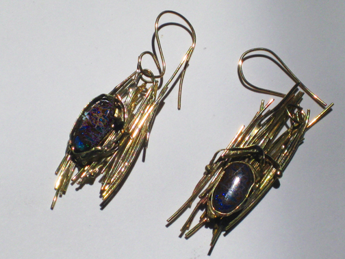 Gold Sticks and Opal Earrings $1800