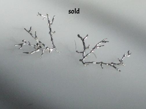 Branch earrings  $85.00