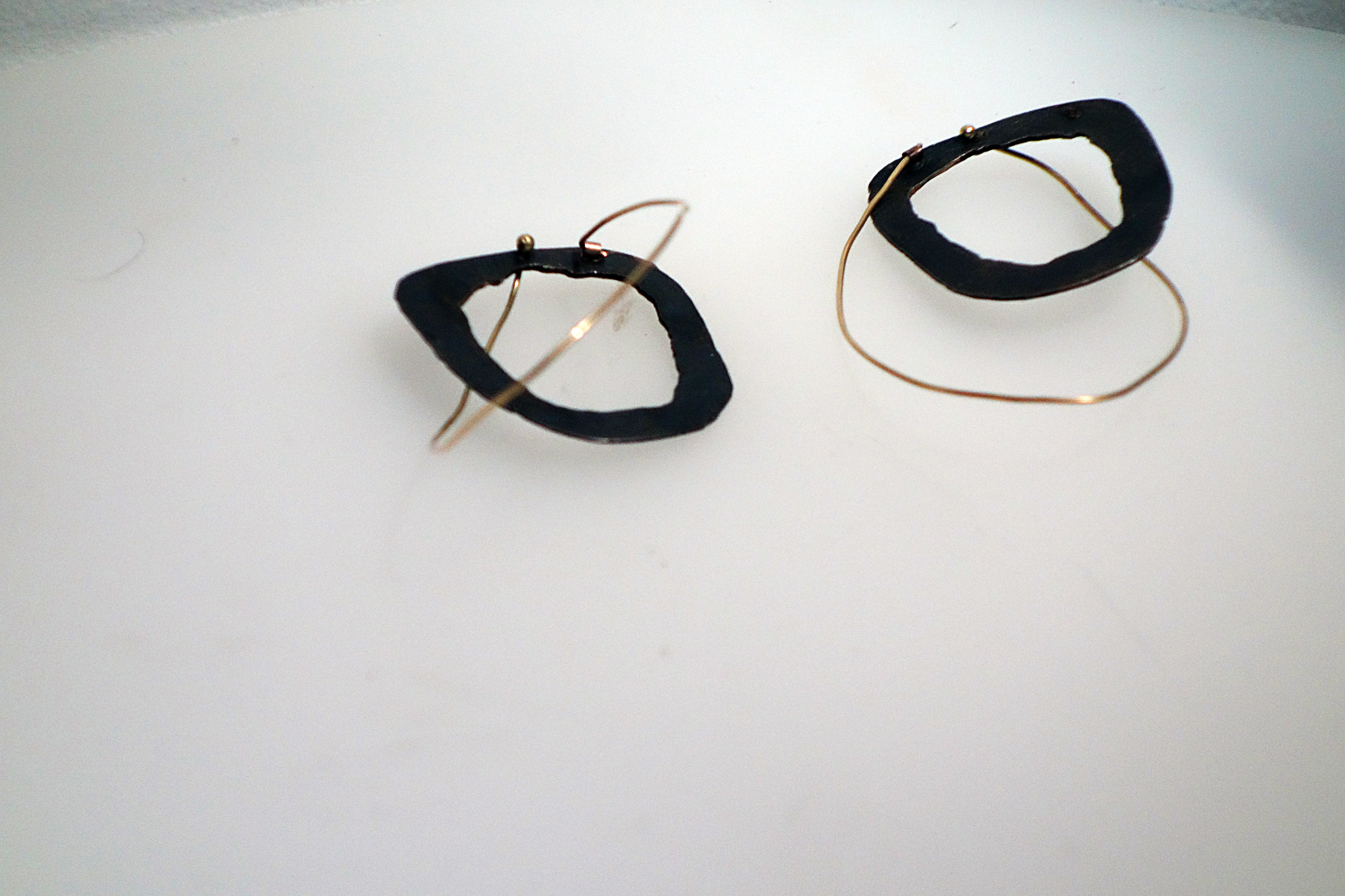 Black and Gold Earrings $850