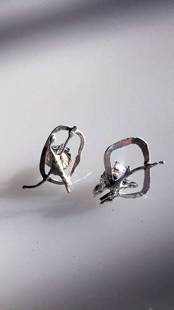 Square Circle earrings  $50
