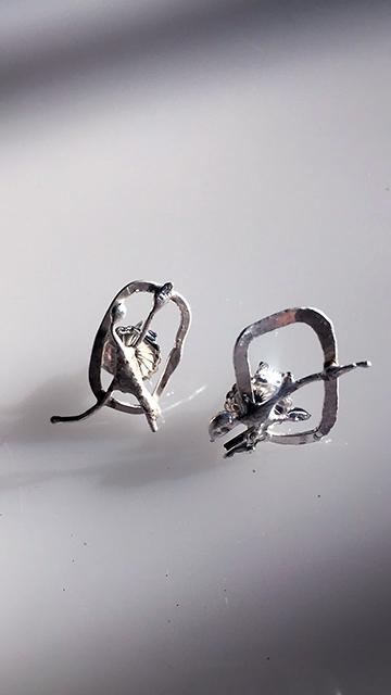 Squared Circle Earrings $65
