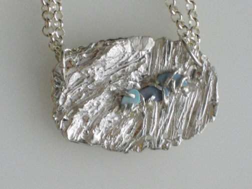 Caged Opals Necklace  $195.00
